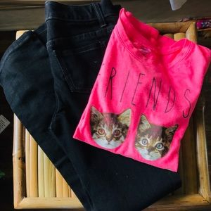 Other - Girls tee shirt and jeans